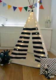 accessories interesting black horizontal striped teepee for kids