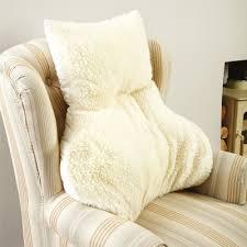 sheepskin lumbar support cushion