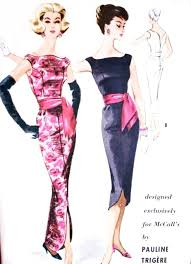 dramatic pauline trigere evening dress pattern mccalls 5131