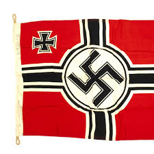 Authentic Pirate Flag Original German Wwii Battle Flag With Wartime Markings 80cm X