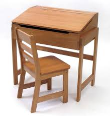 Small Desk And Chair Set Furniture Espresso Stained Hardwood School Desk With Armless