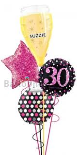 30th birthday balloon delivery personalized ultimate 30th birthday balloon arrangement delivery