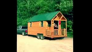 tiny house wisconsin trailer 8 5x20 with pine log railing porch
