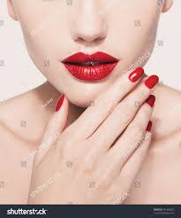 red lips nails closeup open stock photo 331966022 shutterstock