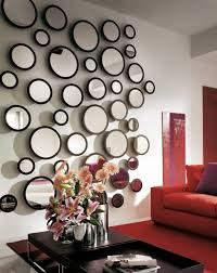 bubble wall mirror for decor with lighting accent lighting ideas
