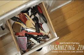 how to organise kitchen utensils drawer organizing zen taming the kitchen junk drawer