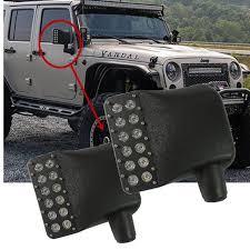 jeep wrangler mirrors gen2 07 17 jeep wrangler jk led side mirror lights ralu led
