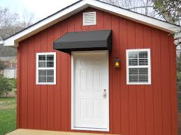 shed style residential door and window awnings