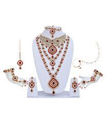 bridal jewellery lucky jewellery maroon bridal jewellery set buy lucky jewellery