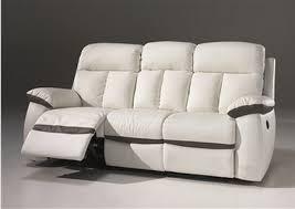 canapé cuir relax 3 places canap 2 places 3 places relax lectrique en cuir blanc with canapé