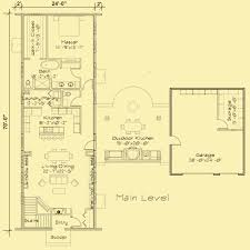 one story home floor plans icf house plans for a narrow 1 story home with 1 bedroom