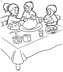 free clip of thanksgiving day clipart black and white 7622