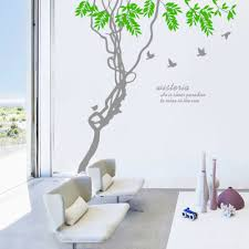 wisteria home decor ivy leaves u0026 tree branches birds wall art mural decor sticker