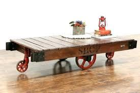 railroad cart coffee table lineberry cart coffee table peekapp co