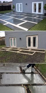 Backyard Concrete Ideas Concrete Backyard Diy Home Outdoor Decoration