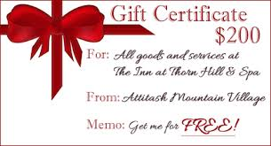 gift card specials specials packages touches