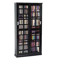 Cd Storage Cabinet With Glass Doors Leslie Dame Ms 700b Sliding Glass Mission Style Door