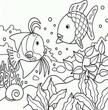 coloring cartoon fish coloring page sheet staggering image ideas