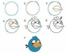 learn draw angry bird hatchlings baby birds step step