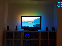 ambient light behind tv old tv ambient led light with kodi