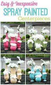 Centerpiece Vases Cheap Best 25 Spray Paint Vases Ideas On Pinterest Spray Painting