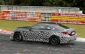 lexus rc modified lexus spied testing hotter rc f model on the nurburgring