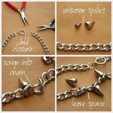 chain necklace diy images Spiked chain necklace diy diy jewelry pinterest diy jpg