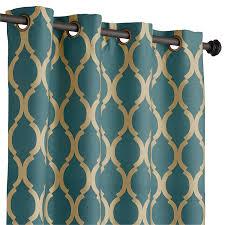 Moorish Tile Curtains Teal 108 Moorish Tile Curtain Teal Window Treatments