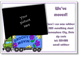 printable moving announcements add a photo change of address