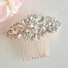 hair comb accessories gold bridal hair comb rhinestone brooch wedding comb