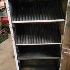 Vintage Metal Storage Cabinet Industrial Vintage Timber U0026 Metal Storage Cabinet With Timber