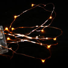 orange led lights battery operated