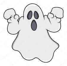 ghost trying to scare halloween vector illustration u2014 stock