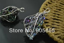 black fashion jewelry necklace images Black tektite stone roguh wire wrapped pendants fit fashion jpg