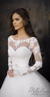 robe de mari e dentelle manche longue robe de mariée milla princesse avec de la dentelle manches