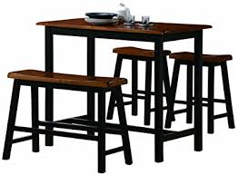 long counter height table amazon com crown mark tyler 4 piece counter height table set