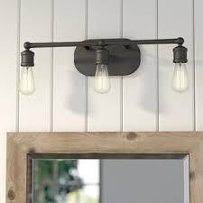 Bathroom Vanity Lighting Fixtures by Oil Rubbed Bronze Bathroom Vanity Lighting You U0027ll Love Wayfair
