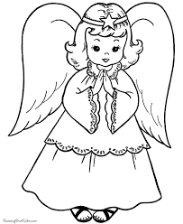 angel coloring christmas simple kids coloring