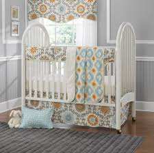 Orange Crib Bedding Orange Crib Bedding Sets Mandarin Damask And Aqua 4 Pc Set Baby
