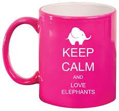 amazon com keep calm and love elephants ceramic coffee tea mug