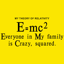 I Love My Family Quote by My Theory Of Relativity Everyone In My Family Is Crazy Squared