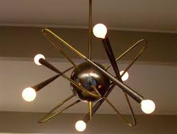 Vintage Sputnik Light Fixture Vintage 1950s Italian Modernist Chandelier By Stilnovo Light