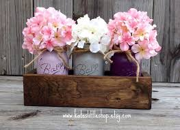 rustic planter box with 3 painted mason jars mason jars rustic