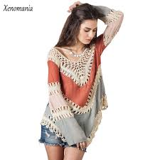 boho crochet hippie blouse kimono boho crochet women blouses 2017 blusa