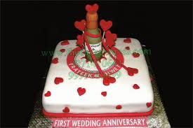 Wedding Anniversary Cakes First Wedding Anniversary Cake Online Cakes Delivery Gurgaon