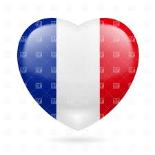 France Flag Images Heart With French Flag Colors I Love France Royalty Free Vector