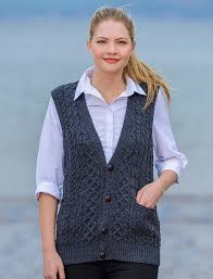 sweater vest womens wool waistcoat sweater vest for cable knits