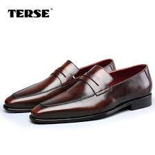 burgundy wedding shoes aliexpress buy terse italian cowhide handmade leather