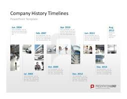 company timeline template powerpoint show your company history on