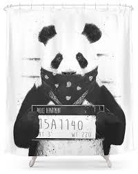 society6 bad panda shower curtain contemporary shower curtains